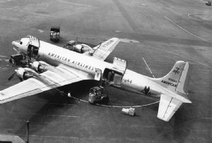 image: US DC-3 air freight American Airlines Cargo 75th anniversary transport giant carrier