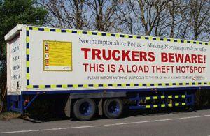 image: UK freight road haulage truck crime TruckPol AVCIS