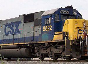 image: US rail freight intermodal cargo CSX ocean ports