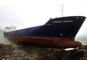 image: UK Marine Accident Investigation Board Lysblink Seaways vessel grounding DFDS