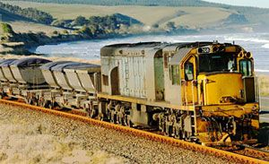 image: New Zealand rail freight cargo