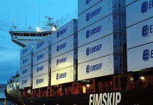 image: Eimskip Iceland freight logistics services Bremerhaven Hamburg Rotterdam