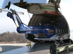 image: Russia air freight forwarding project cargo Antonov helicopter