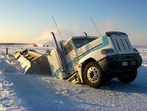 image: UK road haulage fleets ice snow Brake charity bad weather kit