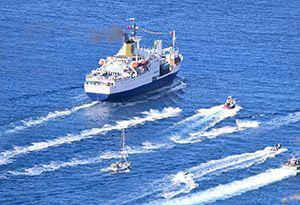 image: St Helena RMS freight passengers archipelago of Tristan de Cunha Ascension Island