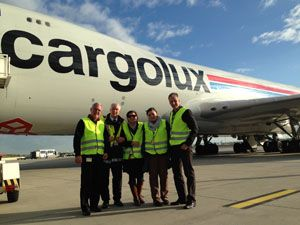 image: Cargolux Vienna air freight all cargo carrier