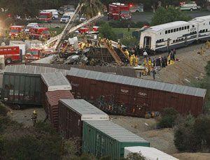 image: US rail freight Union Pacific Kansas City Southern Metrolink Chatsworth California camera truck drivers tachograph technology