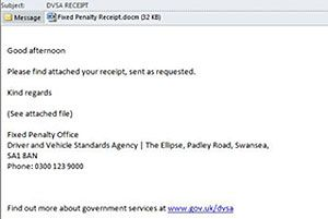 image: DVSA UK road haulage operators drivers scam Trojan bank details