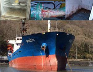 image: UK Turkey freight filthy merchant vessel detained ran aground Munzur MCA MLC