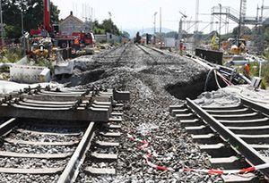 image: Germany Europe rail freight intermodal tunnel collapse Rastatt cargo transport system