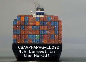 image: CSAV Hapag Lloyd container shipping line