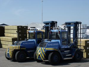 image: Poole port freight handling cargo fleet fork lift truck chassis tonne