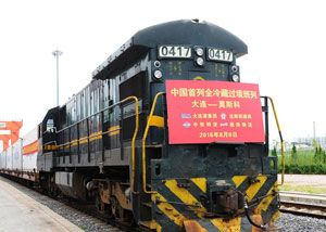 image: Russia China RZD logistics supply chain ocean freight perishable cargoes fruit and vegetables multimodal rail containers