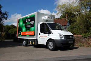 image: UK road haulage express freight courier van commercial vehicle DfT