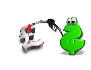 image: UK road haulage trucker diesel fuel price exchange rate
