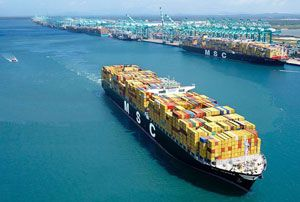 image: MSC US Asia container freight Mediterranean shipping Amberjack Lone Star Express America Empire services