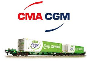 image: UK French freight box carrier container shipping ASDA logistics