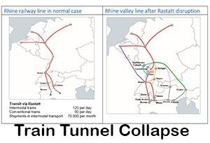 image: European Rail Freight Association Rastatt tunnel collapse intermodal