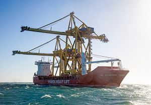 image: Hansa Heavy Lift (HHL) Russia Arctic cranes Northern Sea Route