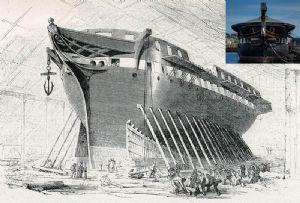 image: UK, HMS, Unicorn, ship, vessel, Dundee, maritime, crowdfunding, heritage, warship, frigate,