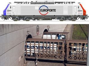 image: France UK channel tunnel intermodal freight truck RoRo Ferry