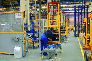 image: Jungheinrich freight logistics shipping fork truck pallet stacker crane