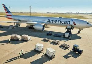 image: US Airways American Airlines cargo air waybill freight tonnes