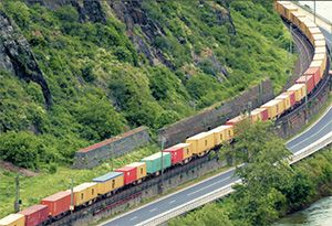 image: Germany rail freight trains 740 metre intermodal Masterplan Rastatt