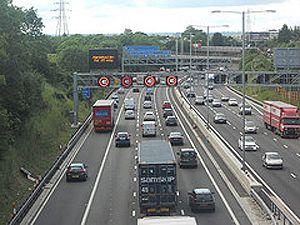 image: M25 M23 Managed Motorway freight transport road haulage