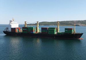 image: West Africa box carrier container ship Bremen Guinea pirate