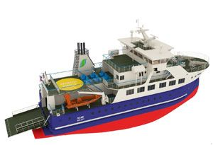 image: Denmark Faroe Isles all electric RoPax ferry design methanol LNG RoRo vessel tonnes