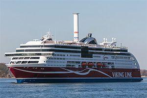 image: Finland Flettner rotor sail Viking line passenger ferry LNG ship vessel