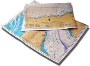 image: UK shipping navigation charts