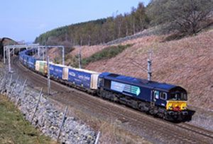 image: UK rail freight transport shipping infrastructure A14 development