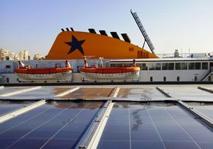 image: Japan container ships RoRo ferries renewable energy patent Eco Marine Power (EMP)