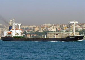 image: Greek Coast Guard container ship dry cargo vessel freight accident shipping authorities
