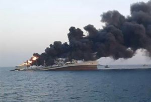 image: Strait of Hormuz, Kharg, X-Press Pearl, sinking, fire, at sea, piracy, Gulf of Guinea, kidnapped,