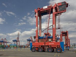 image: Germany freight logistics TEU container handling equipment intermodal transport repairs