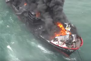 image: Sri Lanka, India, X-Press Pearl, fire, pollution. Oil, container, chemical, nitric, acid, Hazira, packaging, improper, TEU,