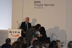 image: UK Freight forwarding BIFA Awards lunch Ade Adepitan Brewery Chiswell street