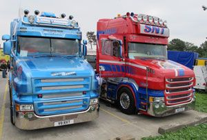 image: UK road haulage Scania gathering of the Griffin truck HGV PDF Professional Drivers Foundation