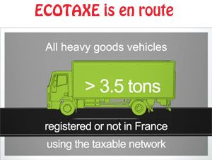 image: France Line Ecotaxe road haulage freight carrier Marie Boyer