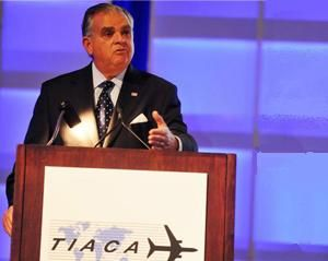 image: LaHood US air freight industry supply chain TIACA cargo event