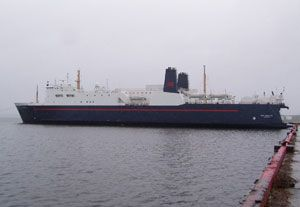 image: Canada freight ferry truckers ship cargo
