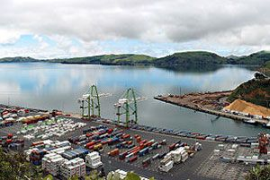 image: New Zealand container shipping deepwater port Asian shipping freight consulting