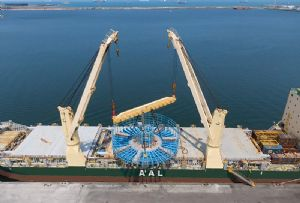 image: Jebel Ali, UA, Taiwan, Formosa 2, offshore, wind farm, AAL, heavy lift, tonnes, break bulk,
