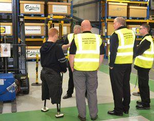 image: Jungheinrich logistics materials handling pallet fork truck Paralympic