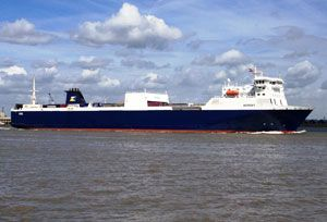 image: UK Belgium P&O Ferries freight units cross channel Zeebrugge Calais Tilbury Dover