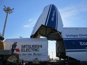 image: Volga-Dnepr Russia freight logistics space satellite AirBridgeCargo cargo airline Boeing