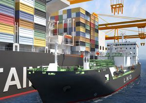 image: LNG merchant shipping container classification societies W�rtsil� Shell